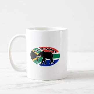 South Africa Elephant Flag Coffee Mug