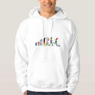 South Africa Evolution of football soccer sports Hooded Pullover