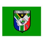 South Africa falg football shield postcard