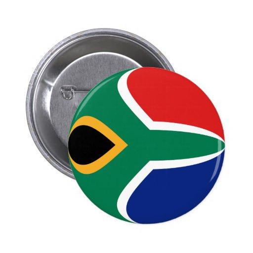 South Africa Fisheye Flag Button