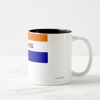 South Africa Flag (1928-1994) Two-Tone Coffee Mug