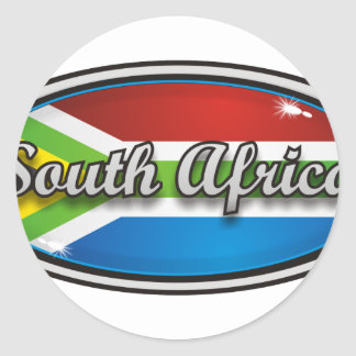 South Africa flag 1 Classic Round Sticker