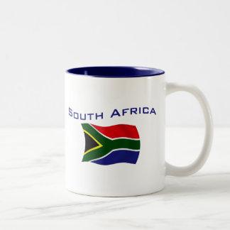 South Africa Flag 1 Two-Tone Coffee Mug