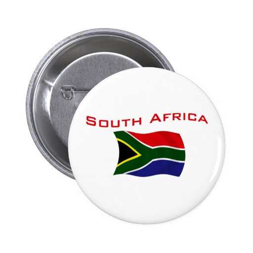 South Africa Flag 2 Button