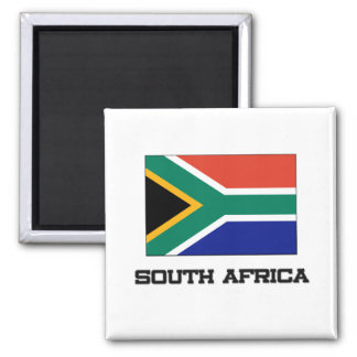 South Africa Flag 2 Inch Square Magnet