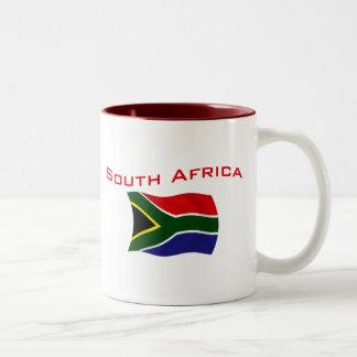South Africa Flag 2 Two-Tone Coffee Mug