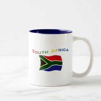 South Africa Flag 3 Two-Tone Coffee Mug