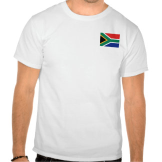 South Africa Flag and Map T-Shirt