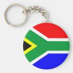 South Africa flag Basic Round Button Keychain