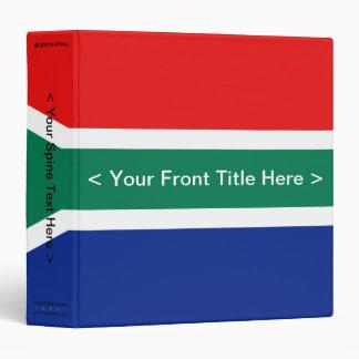 South Africa Flag Binder
