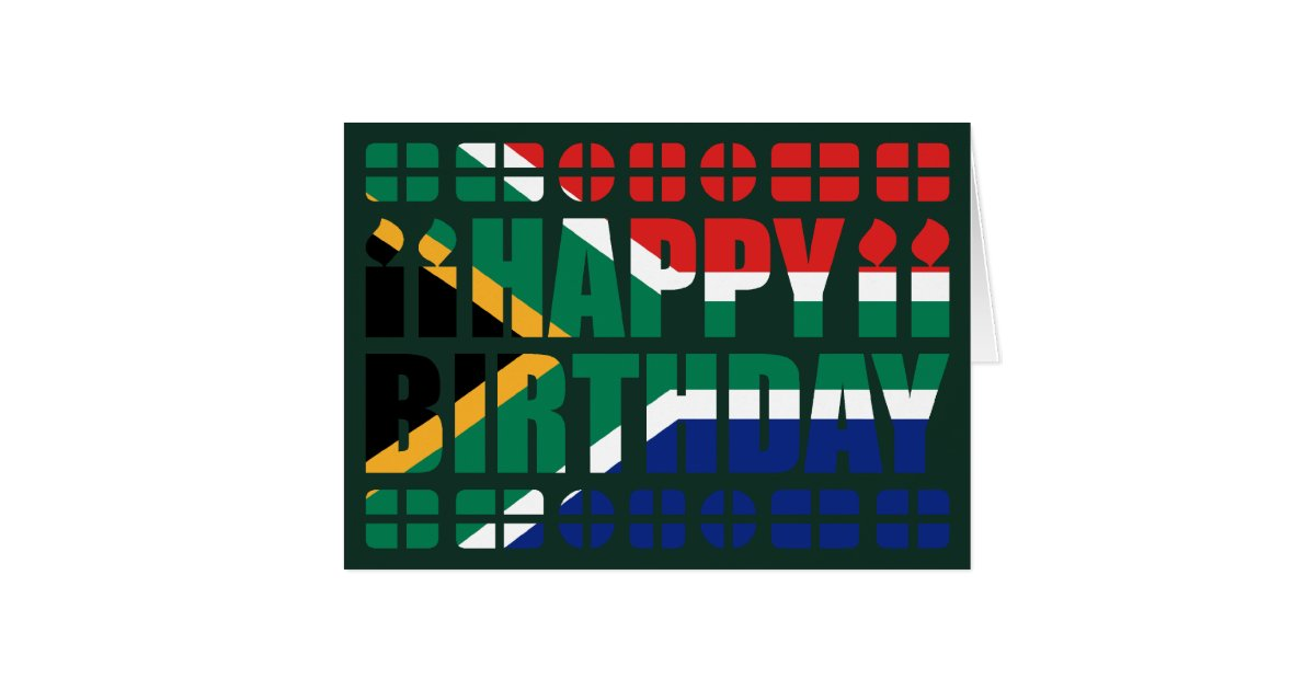 South Africa Flag Birthday Card Zazzle Com