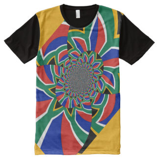 South Africa Flag Colors Men's American Apparel All-Over-Print T-Shirt