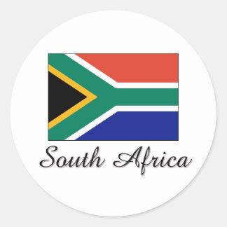 South Africa Flag Design Round Sticker