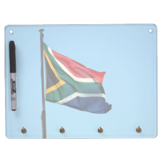 south africa flag dry erase board with keychain holder