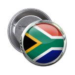 South Africa Flag Glass Ball Buttons