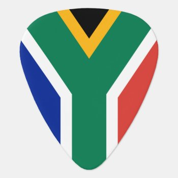 South Africa Flag Guitar Pick For African Musician by iprint at Zazzle