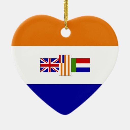 South Africa Flag Heart (1928-1994) Christmas Tree Ornament