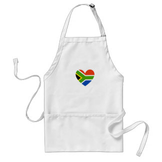south africa flag heart adult apron