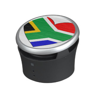 South Africa Flag Heart Bluetooth Speaker