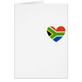 south africa flag heart card