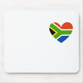 south africa flag heart mouse pad