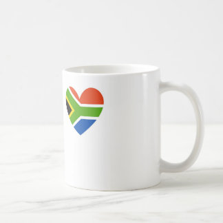 south africa flag heart classic white coffee mug