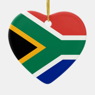 South Africa Flag Heart Ornament