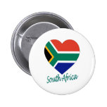 South Africa Flag Heart Pin