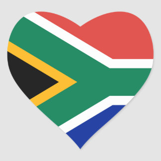 South Africa Flag Heart Sticker