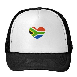 south africa flag heart trucker hat
