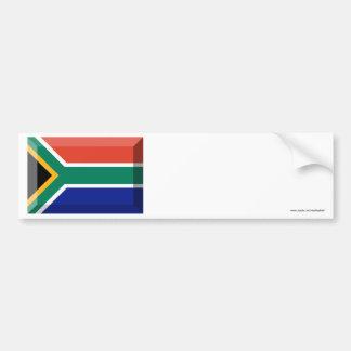 South Africa Flag Jewel Car Bumper Sticker