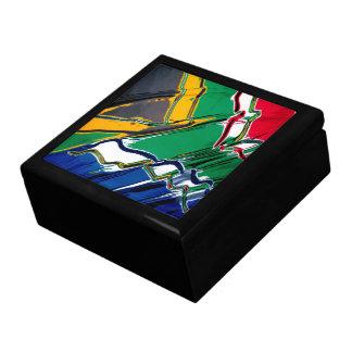 South Africa Flag Keepsake Jewelry Gift Box