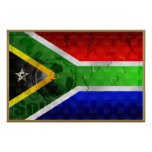 South Africa flag Large Soccer Poster