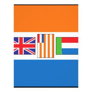 South Africa Flag Letterhead