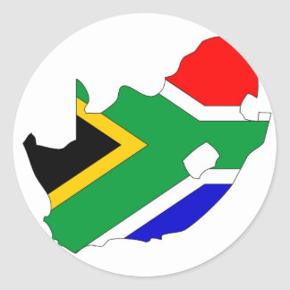 South Africa flag map Classic Round Sticker