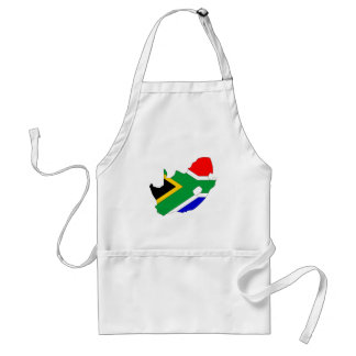 South Africa Flag Map full size Adult Apron