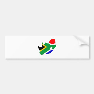 South Africa Flag Map full size Bumper Stickers