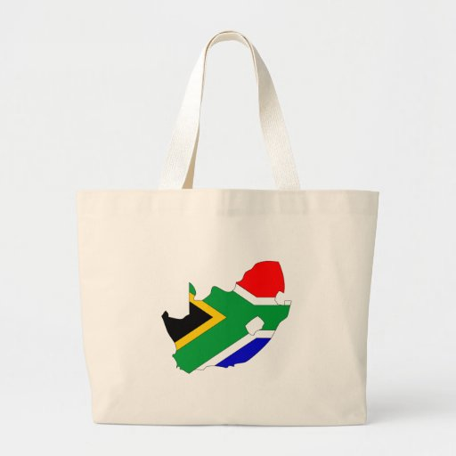 South Africa flag map Large Tote Bag
