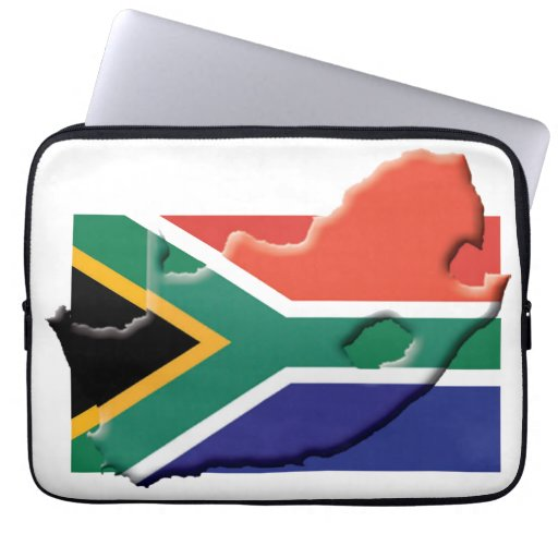 SOUTH AFRICA Flag Map Patriotic Computer Laptop Sleeve