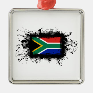 South Africa Flag Metal Ornament