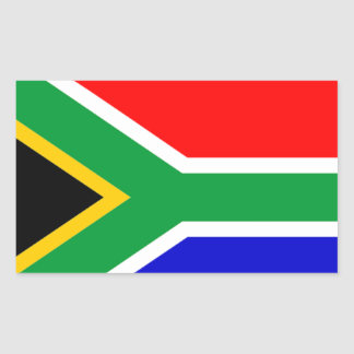 South Africa: Flag of South Africa Rectangular Sticker