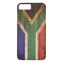 South Africa Flag on Old Wood Grain iPhone 8 Plus/7 Plus Case