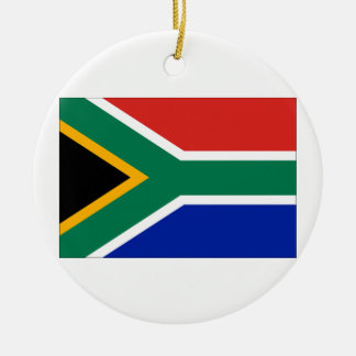 South Africa Flag Double-Sided Ceramic Round Christmas Ornament