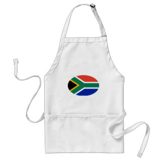 South Africa Flag Oval The MUSEUM Zazzle Gifts Adult Apron