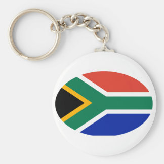 South Africa Flag Oval The MUSEUM Zazzle Gifts Basic Round Button Keychain
