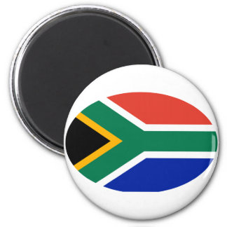 South Africa Flag Oval The MUSEUM Zazzle Gifts 2 Inch Round Magnet