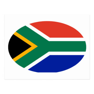 South Africa Flag Oval The MUSEUM Zazzle Gifts Postcard
