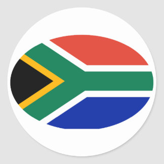 South Africa Flag Oval The MUSEUM Zazzle Gifts Classic Round Sticker