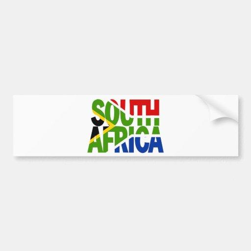 South Africa + flag Pegatina Para Auto