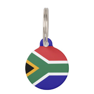 South Africa Flag Pet ID Tag